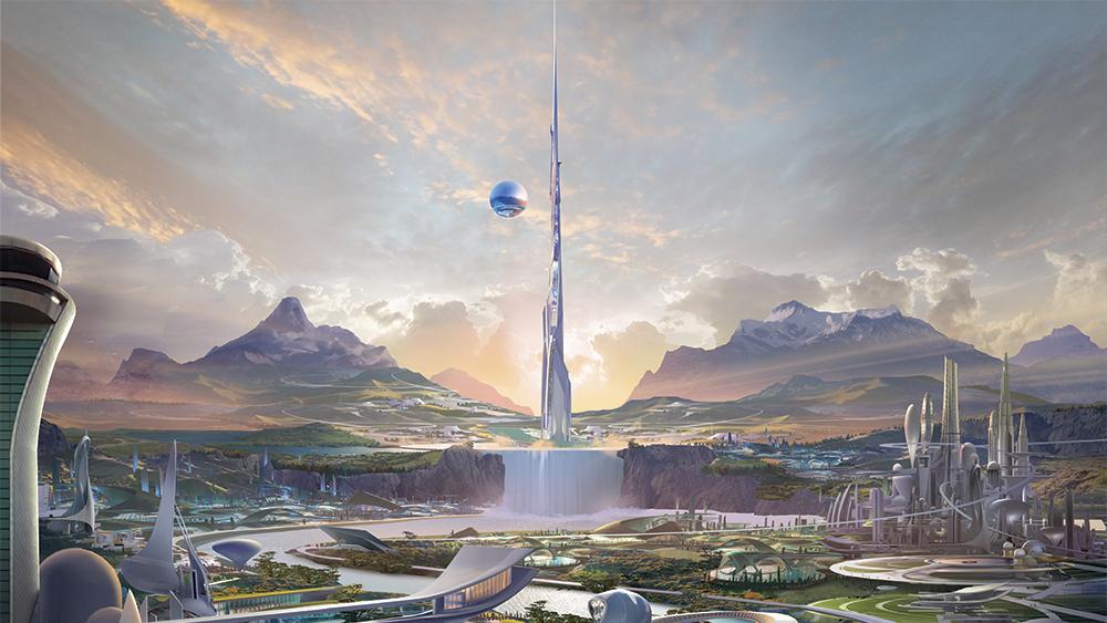desain produksi kota utopia di tomorrow land